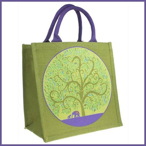 Jute Shop Bag Tree Of Life