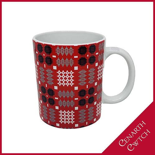 Cenarth Cwtch Welsh Print Mug Radiant Red