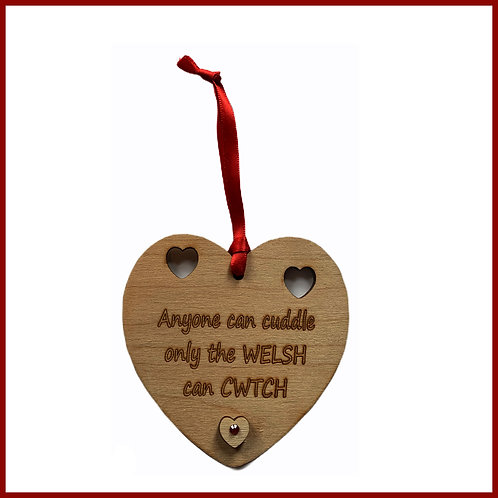 Welsh Cutout Heart Welsh Cwtch