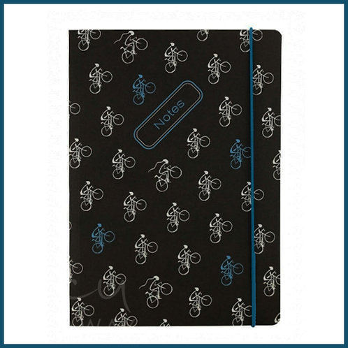 Lucy Pittaway A5 Notebook Cycling Pattern