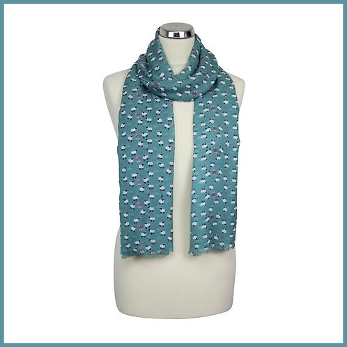 Sheep Range Scarf Blue