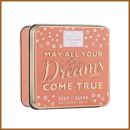 Soap in a Tin Sweet Sayings Dreams 100g