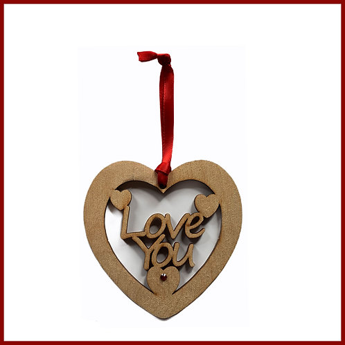 Welsh Fretwork Heart Love You