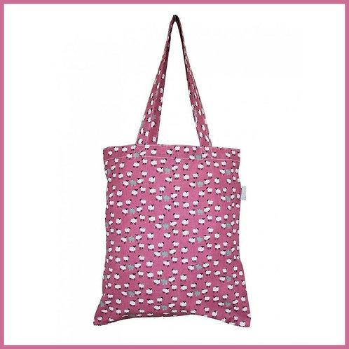 Sheep Cotton Shopping Bag Pink