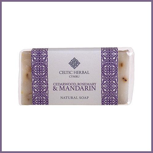 Handmade Natural Soap Cedarwood, Rosemary & Mandarin