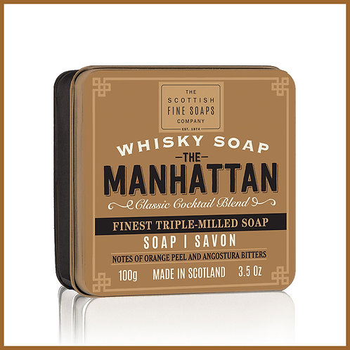 Soap in a Tin Whisky Cocktail Manhattan 100g