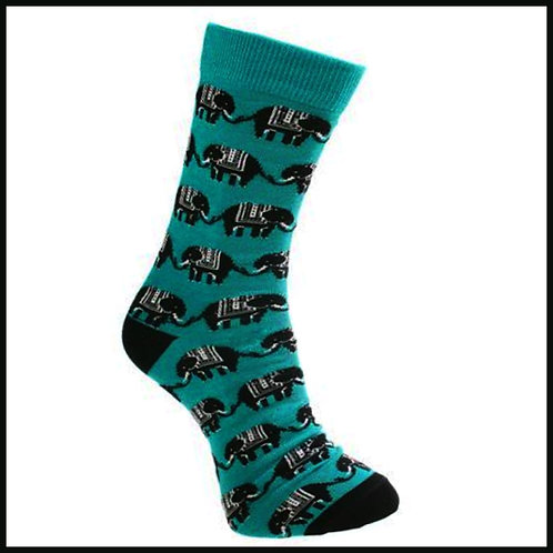 Bamboo Socks Elephants Size 7-11
