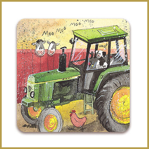 Alex Clark Coaster C30 Green Tractor