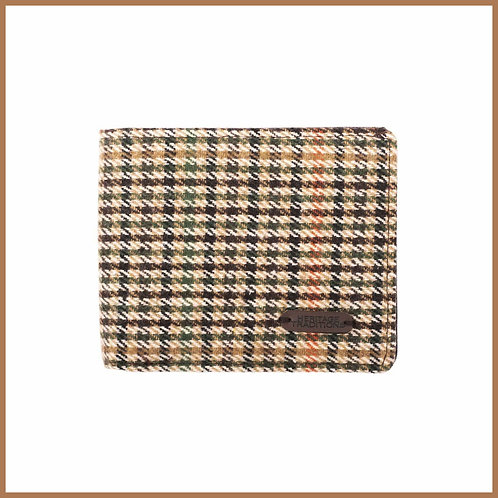Heritage Traditions Tweed Wallet Camel Houndstooth