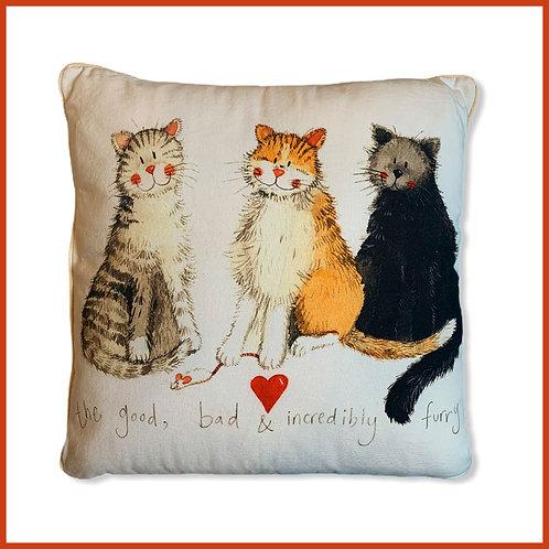 Alex Clark Cushion Good, Bad & Furry