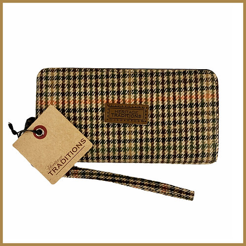 Heritage Traditions Tweed Purse Camel Houndstooth