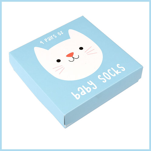 Cookie The Cat Baby Socks 4 Pairs