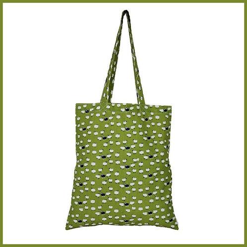 Sheep Cotton Shopping Bag Moss
