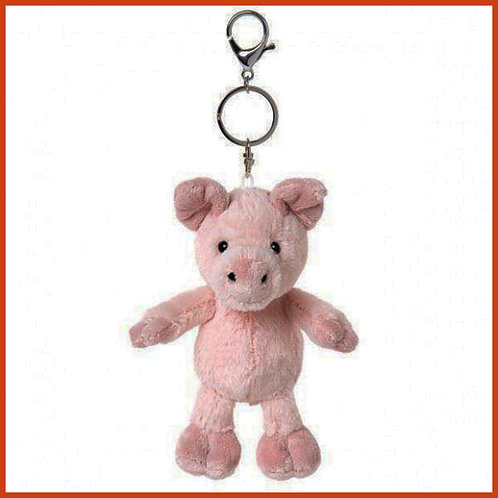Peyton the Pig Keyring