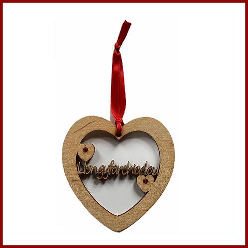 Welsh Fretwork Heart Llongfarchiadau
