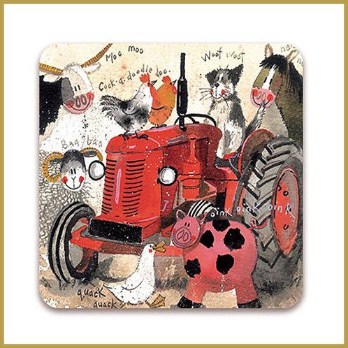Alex Clark Coaster C31 Big Red Tractor