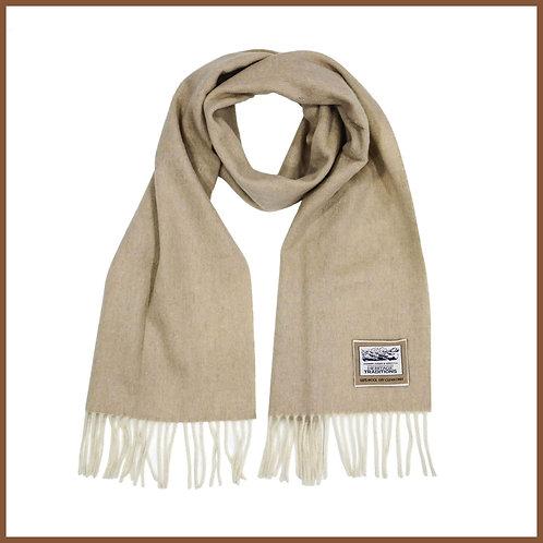 Heritage Pure Wool Scarf Camel Herringbone