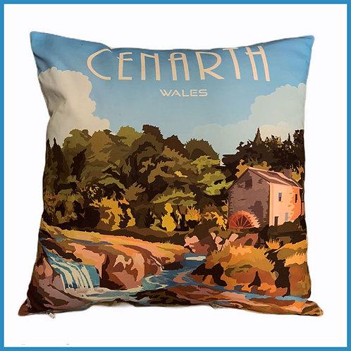 Cenarth Retro Design Cushion