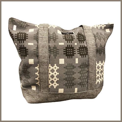 Welsh Tapestry Print Shoulder Bag Grey