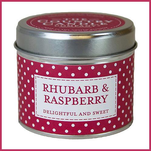 Polkadot Candle Rhubarb & Raspberry