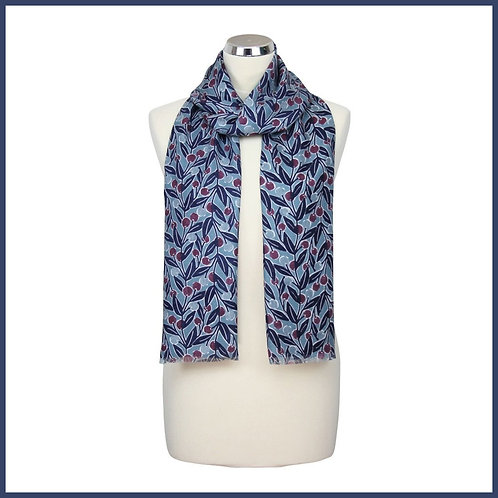 Berries Range Scarf Blue