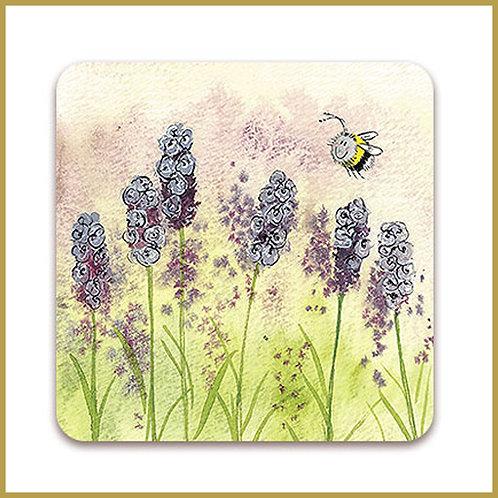 Alex Clark Coaster C65 Lavender Bee