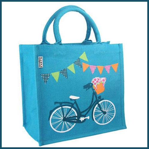 Jute Shopping Bag Bicycle