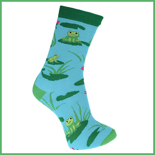Bamboo Socks Frogs Size 3-7