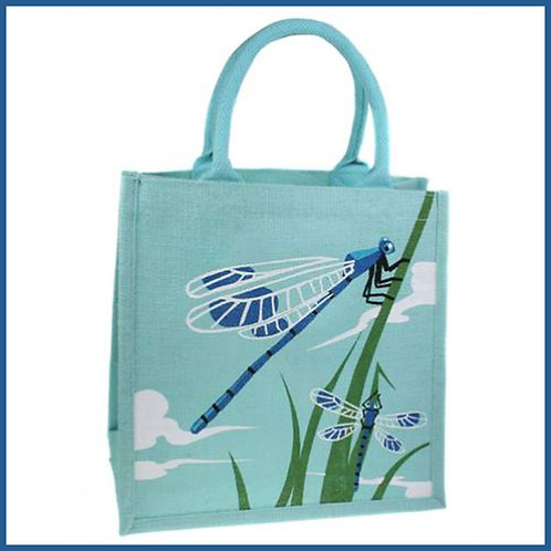 Jute Shopping Bag Dragonfly
