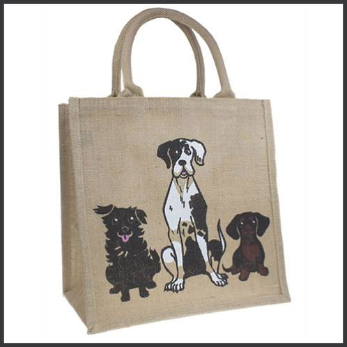 Jute Shopping Bag Dogs