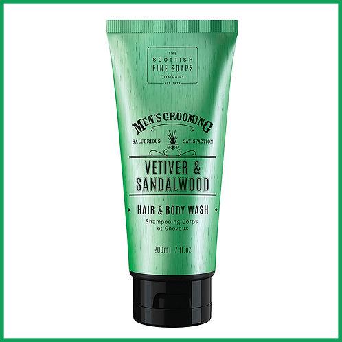 Vetiver & Sandlewood Hair & Body Wash 200ml