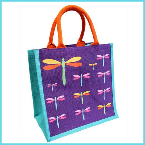 Jute Shop Bag Dragonflies