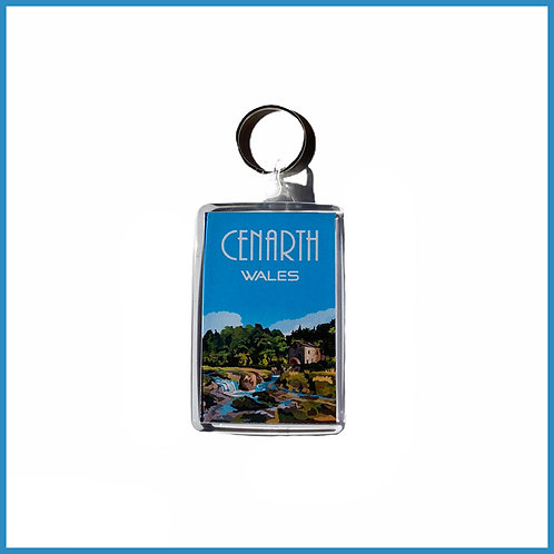 Cenarth Retro Design Acrylic Keyring