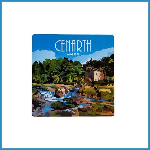 Cenarth Retro Design Wooden Coaster