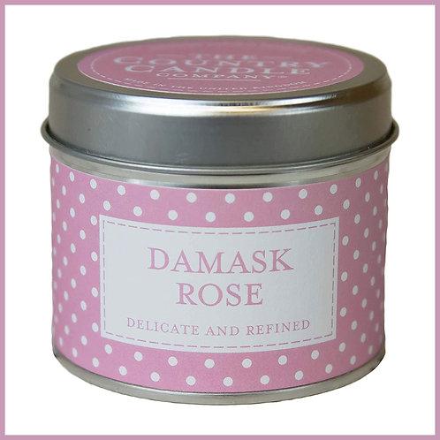 Polkadot Candle Damask Rose