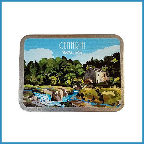 Cenarth Retro Design Metal Tin