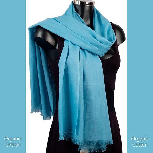 Organic Cotton Pashmina Turquoise