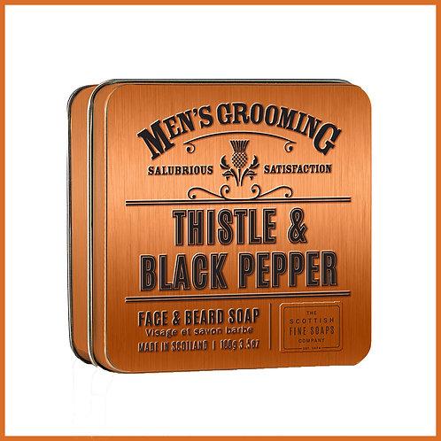 Thistle & Black Pepper Face & Beard Soap 100g