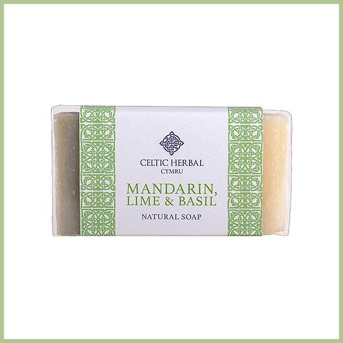 Handmade Natural Soap Mandarin, Lime & Basil
