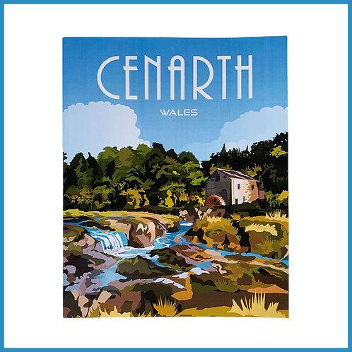 Cenarth Retro Design Art Print