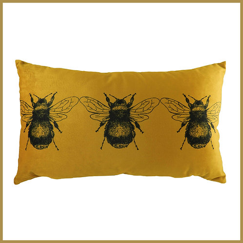 Velvet Touch Bee Cushion Gold Small