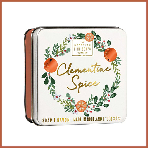 Soap in a Tin Clementine Spice 100g