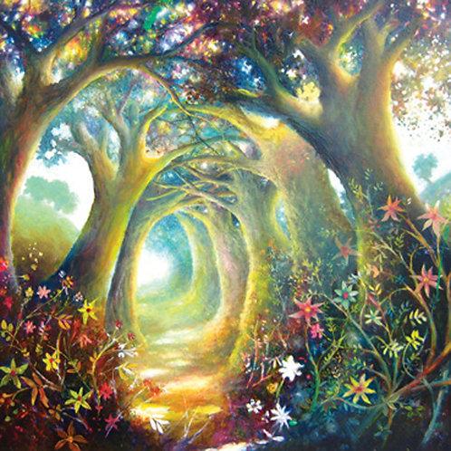 Twilight Realm Through The Trees