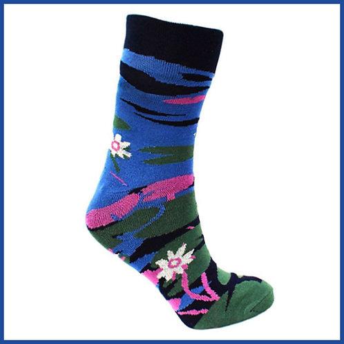 Bamboo Socks Water Lilies Size 7-11