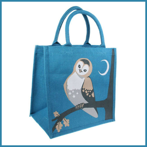 Jute Shopping Bag Owl