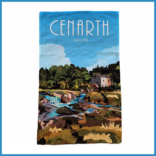 Cenarth Retro Design Tea Towel