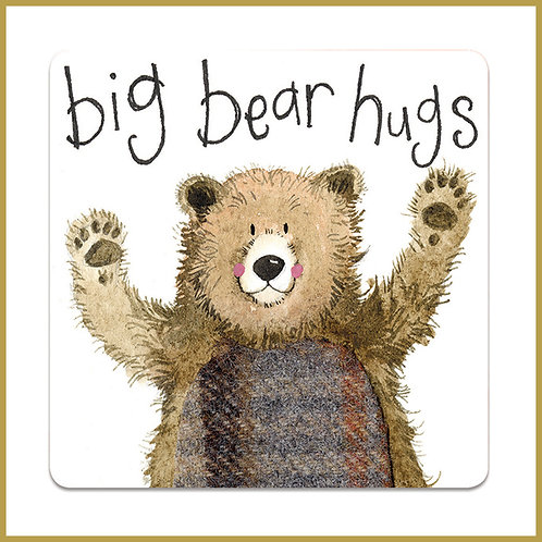 Alex Clark Coaster C108 Big Bear Hugs