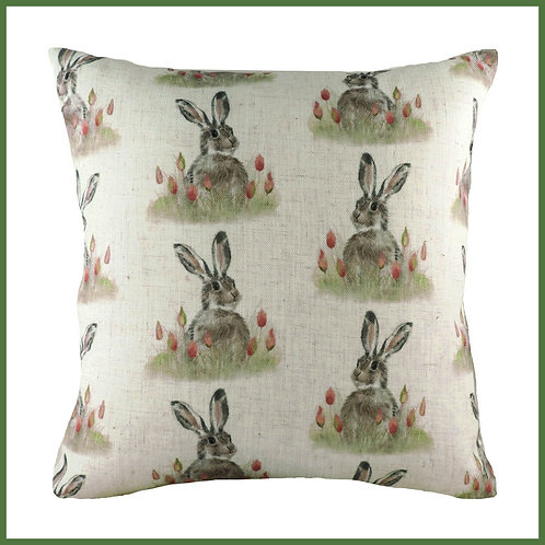 Hedgerow Cushion Hare Repeat