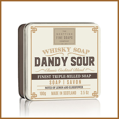 Soap in a Tin Whisky Cocktail Dandy Sour 100g
