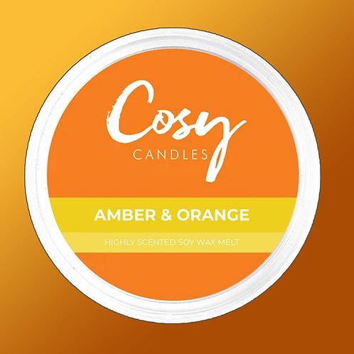 Cosy Aroma Soy Wax Melt Pod Amber & Orange